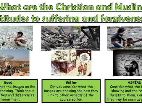AQA A GCSE Theme E Religion, Crime and Punishment: Lesson 5  Suffering and forgiveness