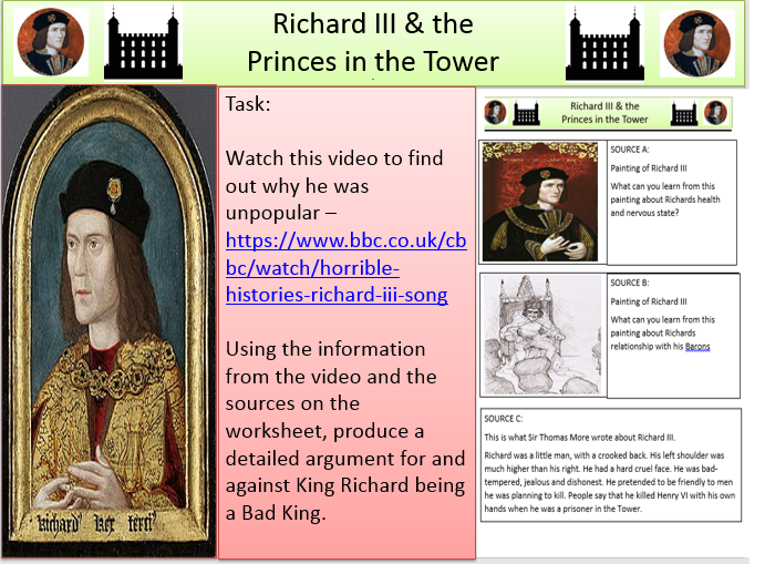 Richard III - Reputation - Also covers Princes in the Tower.