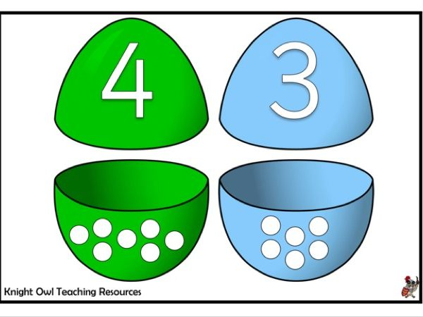 Easter Egg Number Matching Game 1-10