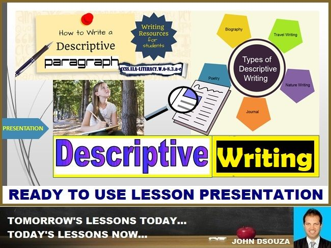 DESCRIPTIVE WRITING - READY TO USE LESSON PRESENTATION