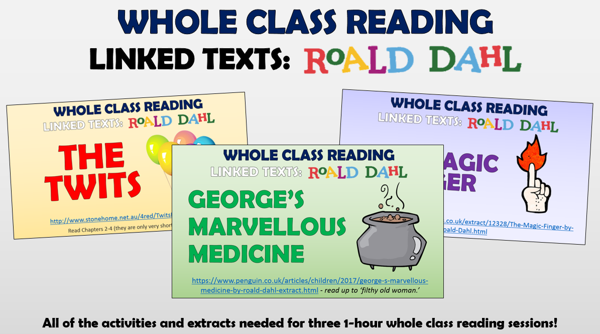Roald Dahl Whole Class Reading Bundle!