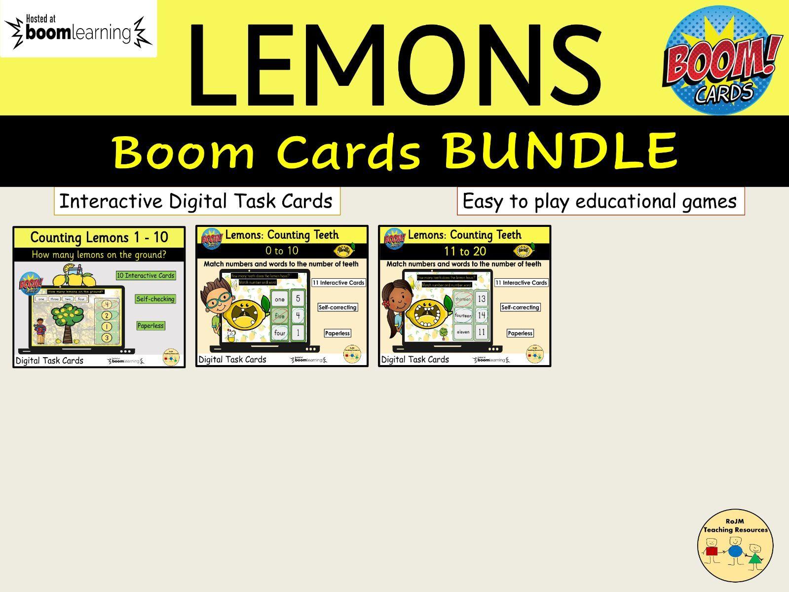 Lemons Bundle BOOM Cards™ Distance Learning Task Cards