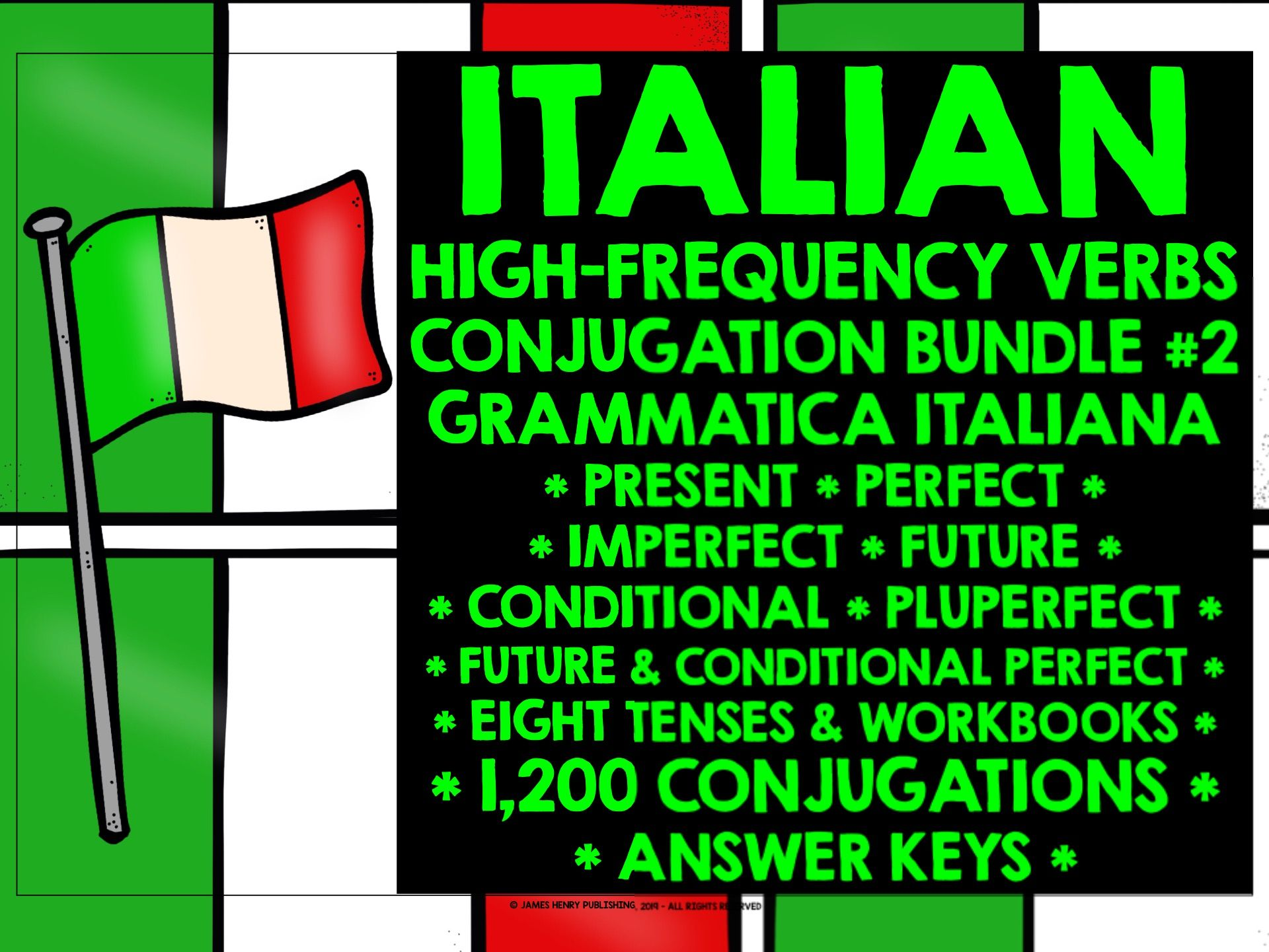 ITALIAN CONJUGATION PRACTICE BUNDLE #2