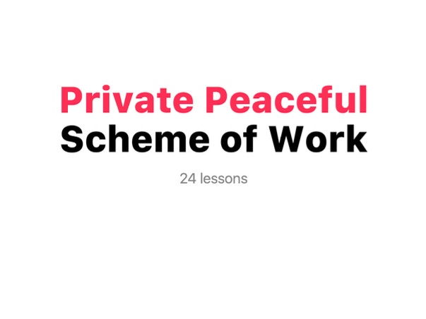 Private Peaceful Scheme of Work (KS3)