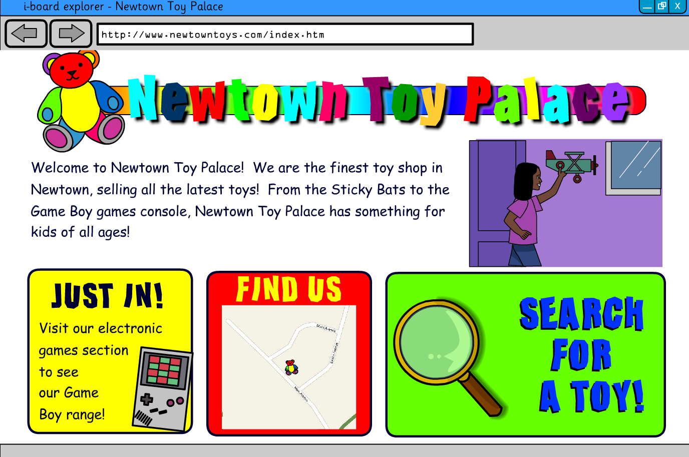 Interactive Information Website - Toys - KS2 Literacy