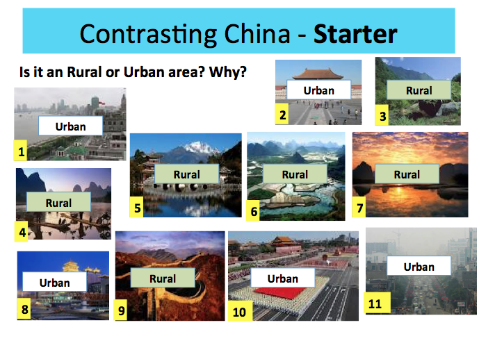 CONTRASTING CHINA! Changes to Urban and Rural Life