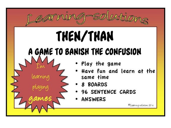 CONFUSED WORD GAME - THEN and THAN