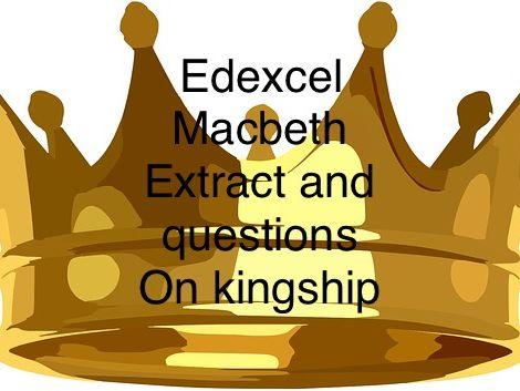 Edexcel GCSE Macbeth exam extract & question