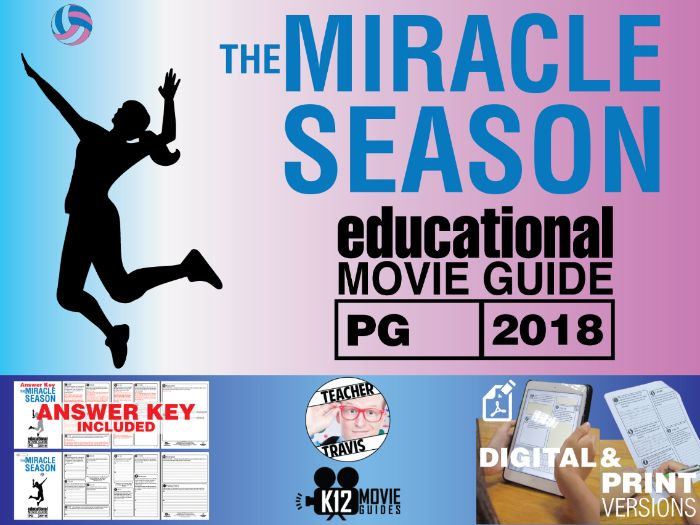 The Miracle Season Movie Guide | Questions | Worksheet (PG - 2018)
