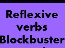 Reflexive verbs Blockbuster game for Smartboard