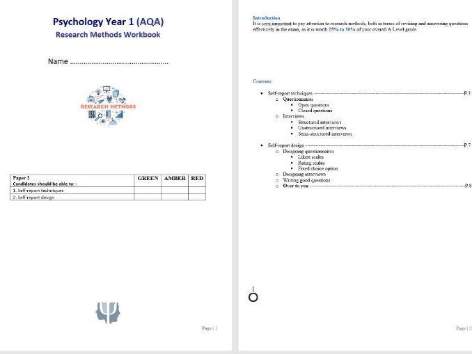 Research Methods 4 Student Workbook