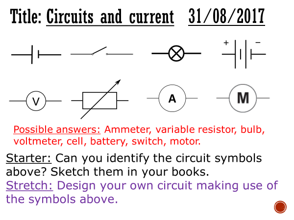 Circuits and current - complete lesson (KS3)