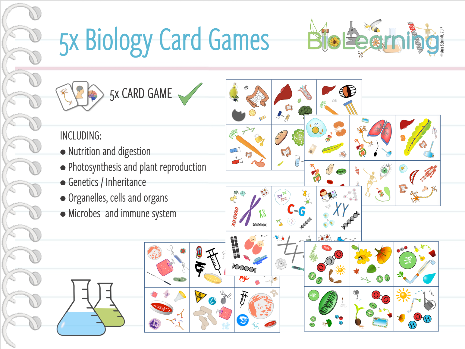 Biology - 5x Card Games