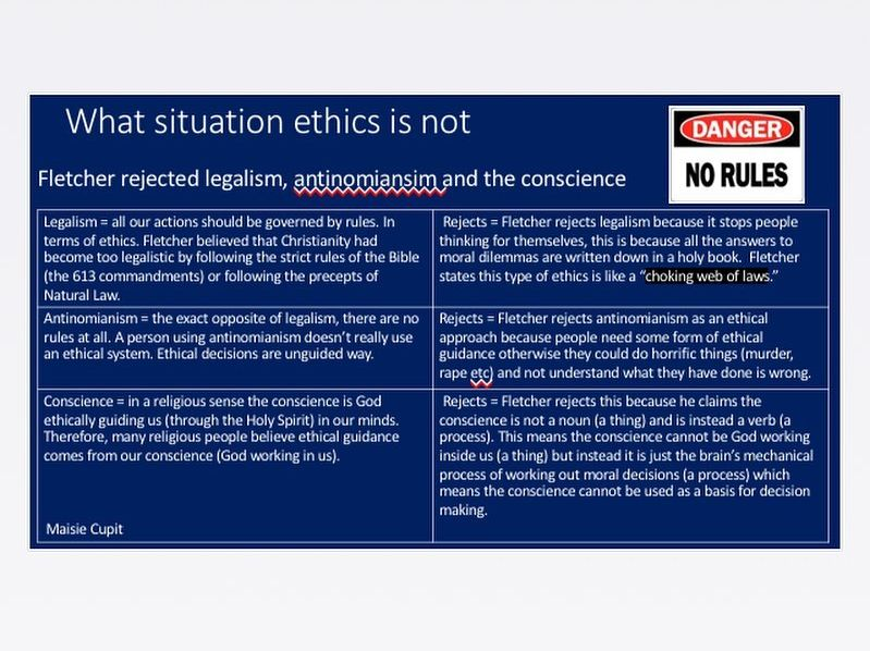 Situation ethics revision powerpoint