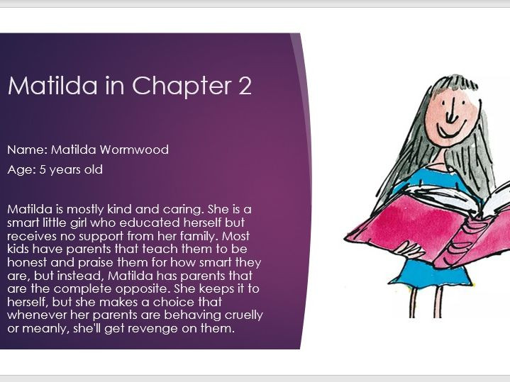 Matilda guided reading/literacy intervention