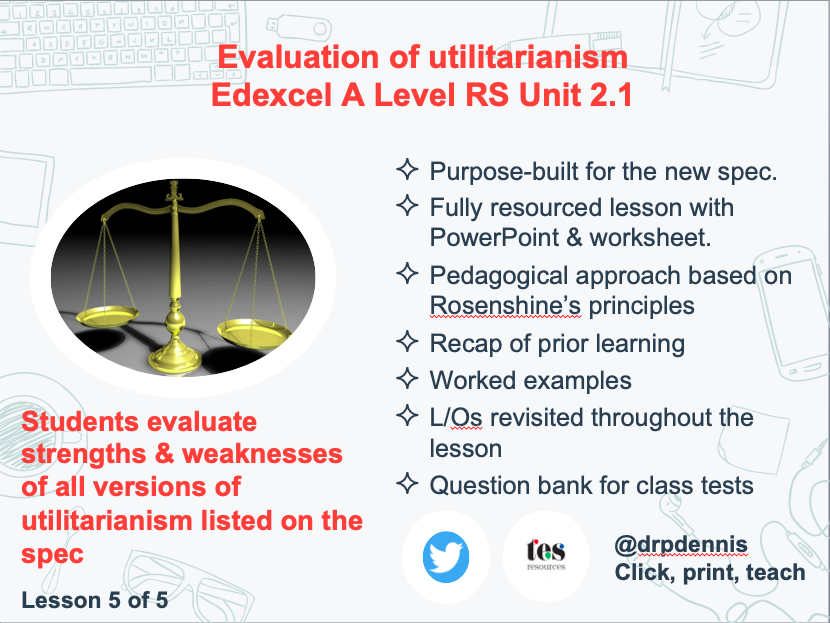 Utilitarianism: Strengths & Weaknesses (Edexcel new spec)