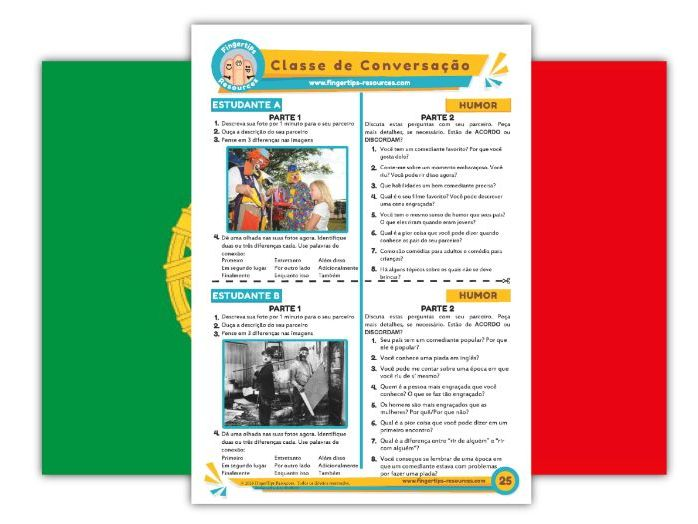 Humor - Portuguese Speaking Activity
