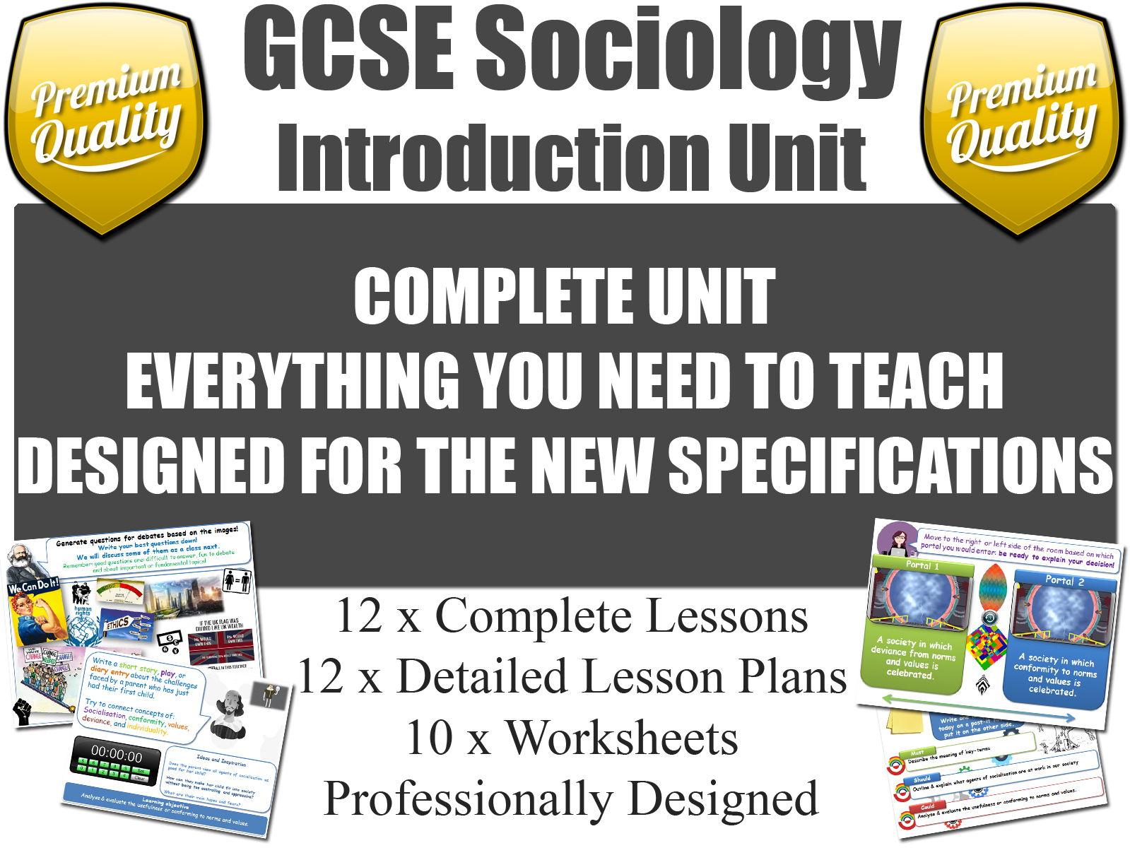 Introduction Unit - GCSE Sociology (12 Lessons!)