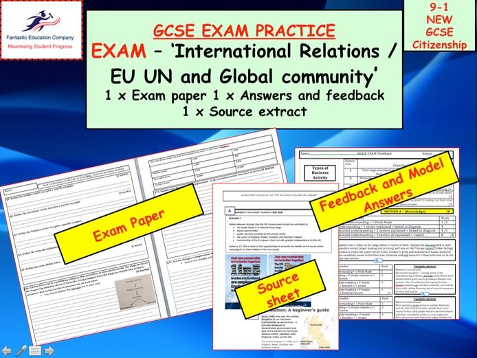 EU UN and Global community GCSE Citizenship 9-1 Exam paper