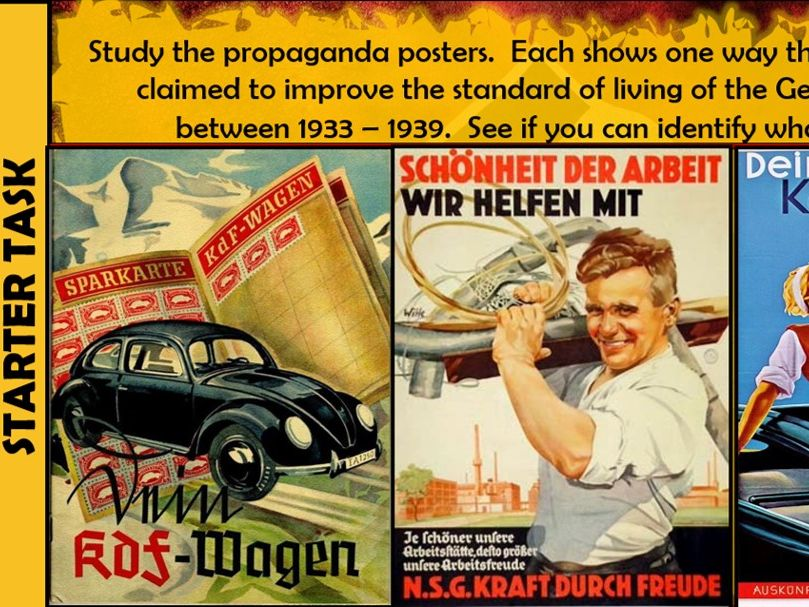 25. GCSE History Edexcel 1-9 Weimar and Nazi Germany 1918-39 Paper 3 Workers in Nazi Germany.