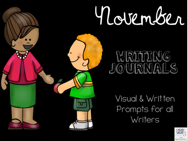 November Journals with Visual & Written Prompts
