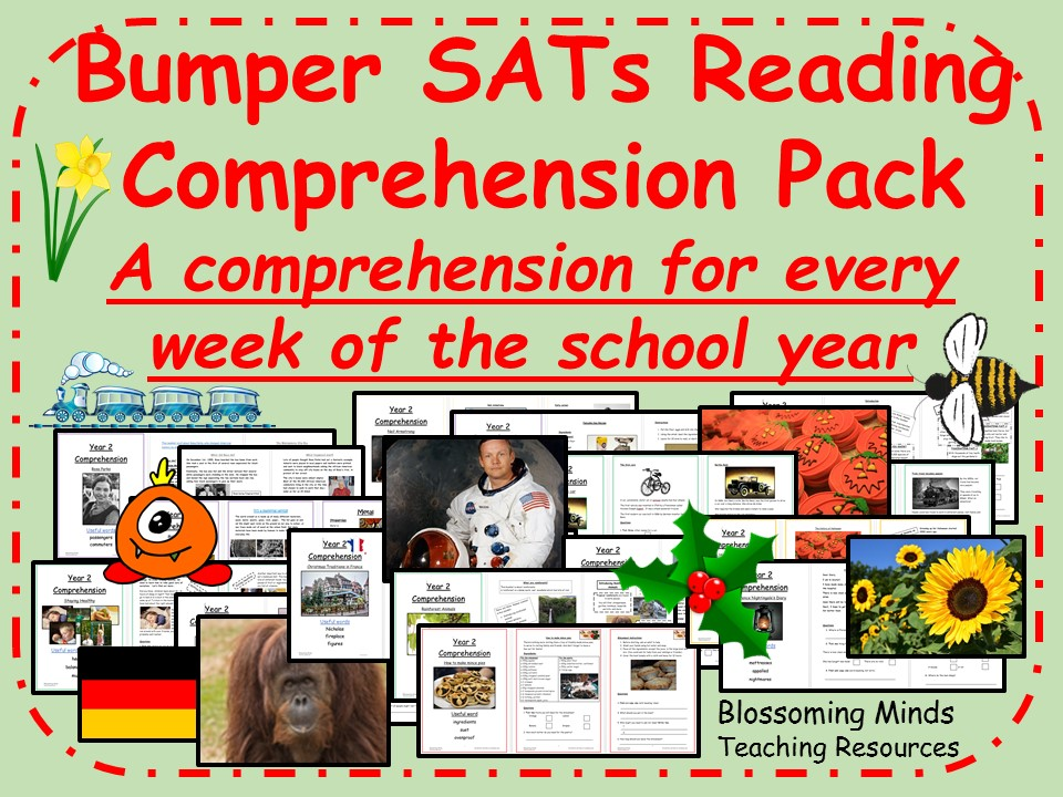 Bumper Year 2 Non-Fiction Reading Comprehension Pack - One a week