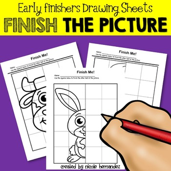 Early Finishers - PICTURE COMPLETION - Symmetry Drawing Sheets