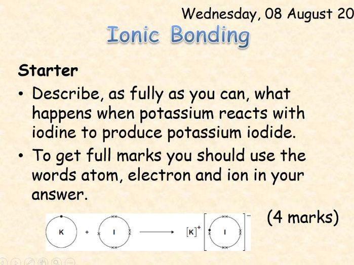 AQA Chemistry Topic 3: Ionic Bonding