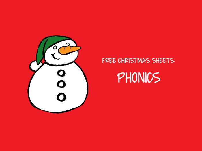 Free Christmas Sheets - Phonics