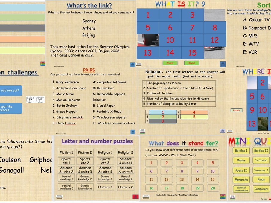 Quizzes and puzzles MEGA bundle
