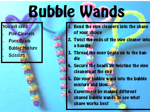 STEM Club Bubbles Theme Scheme of Work