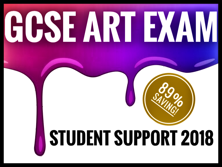 GCSE ART EXAM SUPPORT. 89% SAVING!