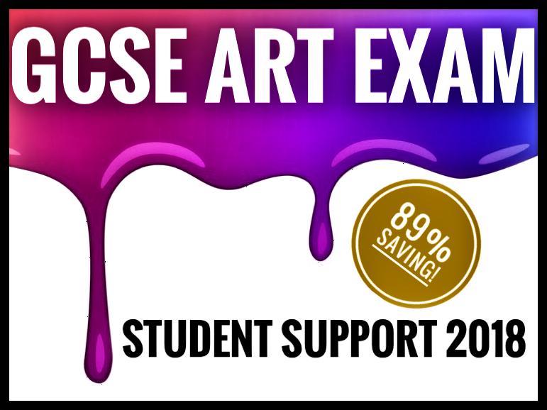 GCSE ART EXAM SUPPORT. 89% SAVING!