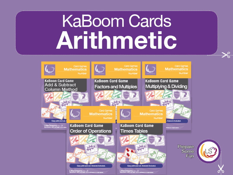 KaBoom Cards Bundle One | Arithmetic