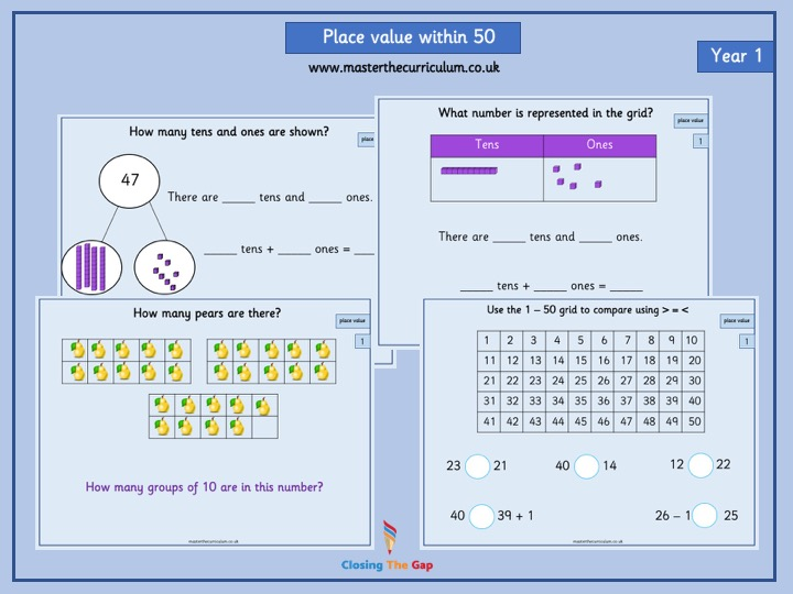 White Rose Teaching Slides- Year 1- Place Value within 50