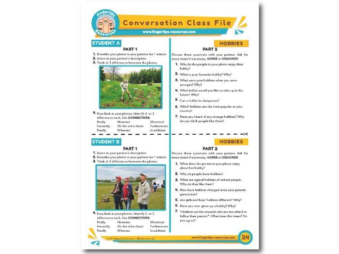 Hobbies - ESL Conversation Activity