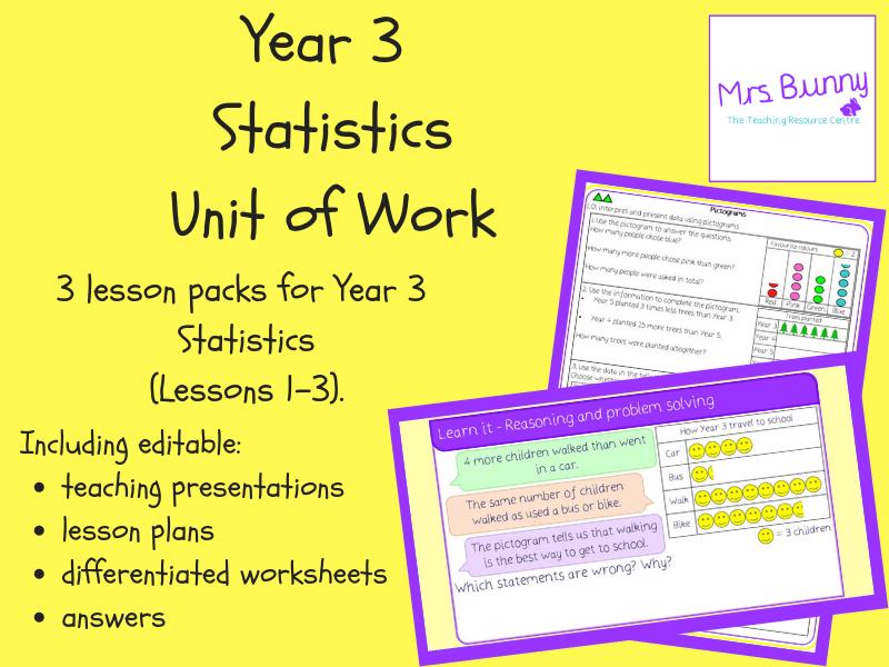 Year 3 Statistics Unit Pack