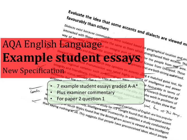 example student essays  a level english language revision bundle