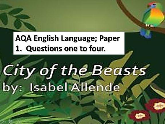 AQA English Language; Paper 1; Questions 1-4. Alex Cold.