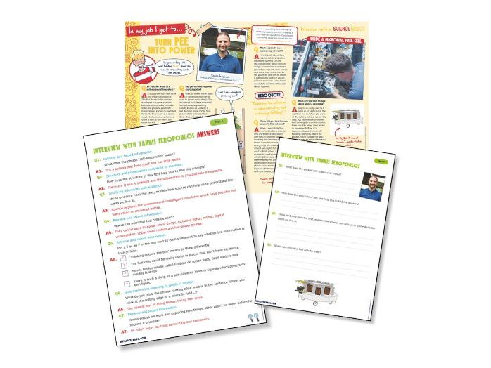 Year 5 Science Reading: Interview with a bioengineer
