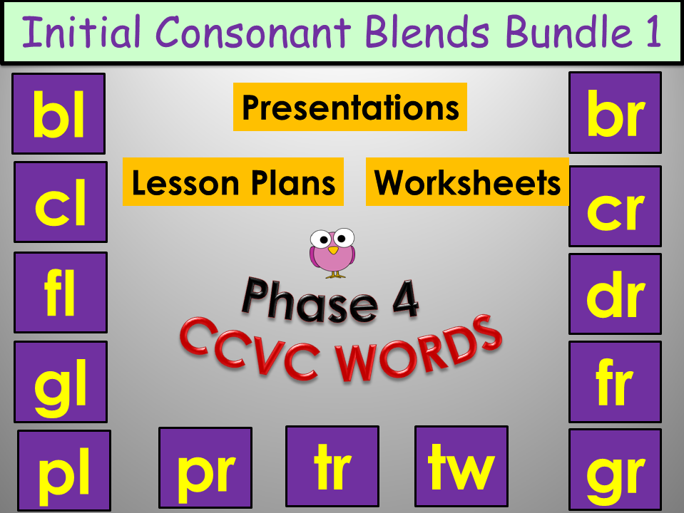 Phoncis: Initial Consonant Blends  - CCVC Words Bundle 1