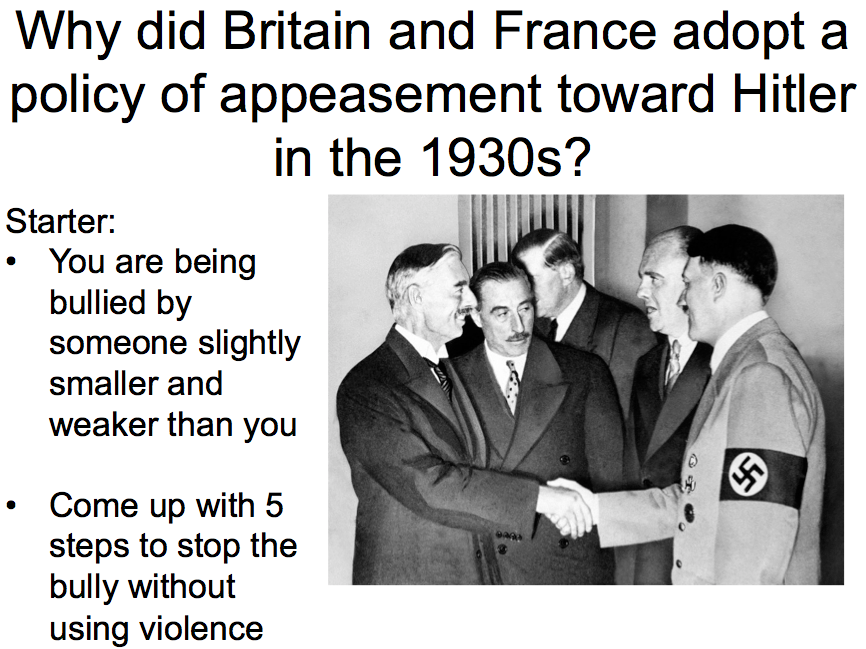 the appeasement of hitler by britain and france