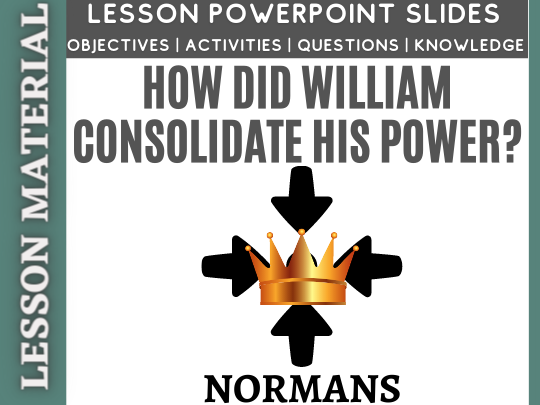How did William consolidate his power?