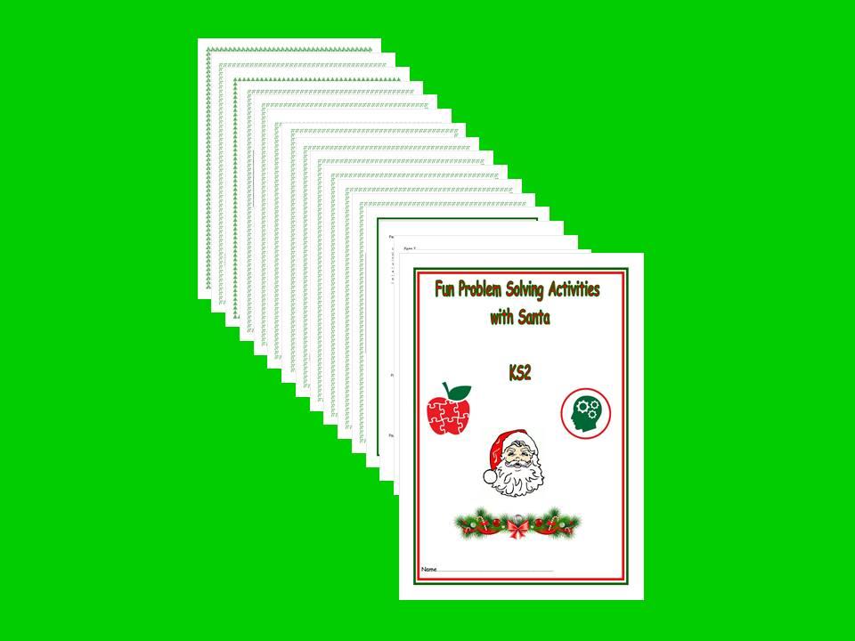 KS2, Problem Solving with Santa activity booklet