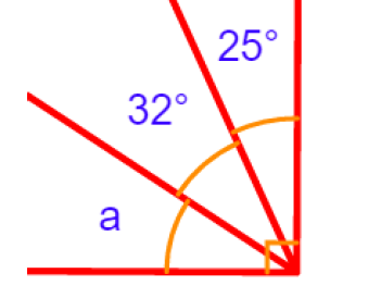 Name, calculate and measure angles inside right angles (differentiated) with answers
