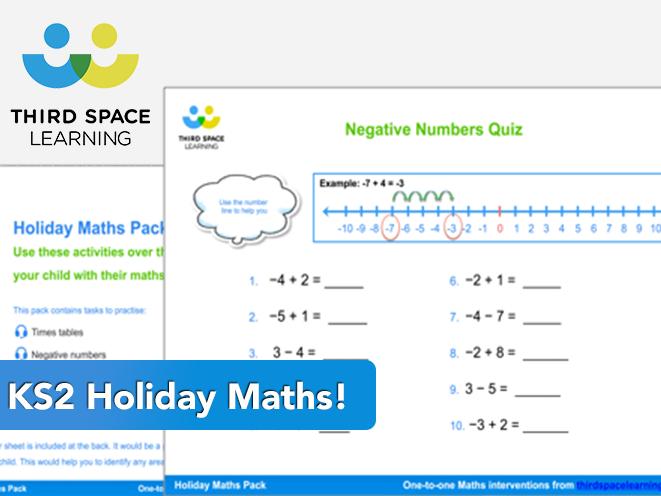 Fun KS2 Holiday Maths Pack - FREE