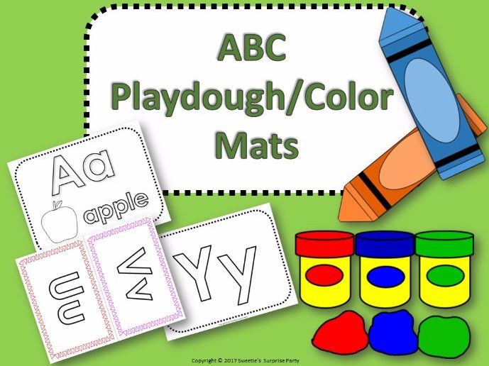 ABC Playdough Color Mats