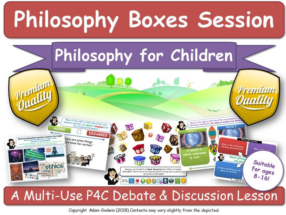 Philosophy Boxes - Core P4C Bundle - Philosophy for Children (Perfect for Tutor  and Form time, RE, RS, Citizenship, & Critical Thinking Teachers, PSHE, SMSC)