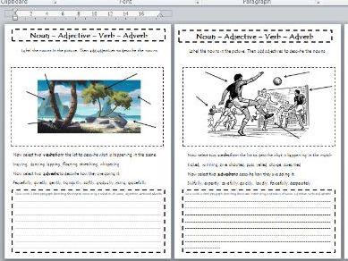 Grammar Help Sheet  - Word Class