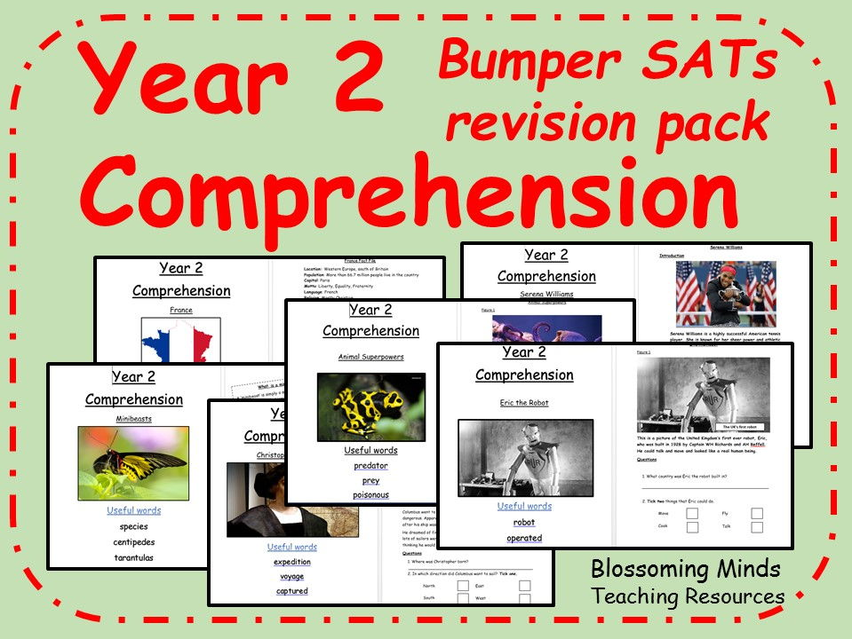 Bumper KS1 SATs comprehension revision pack